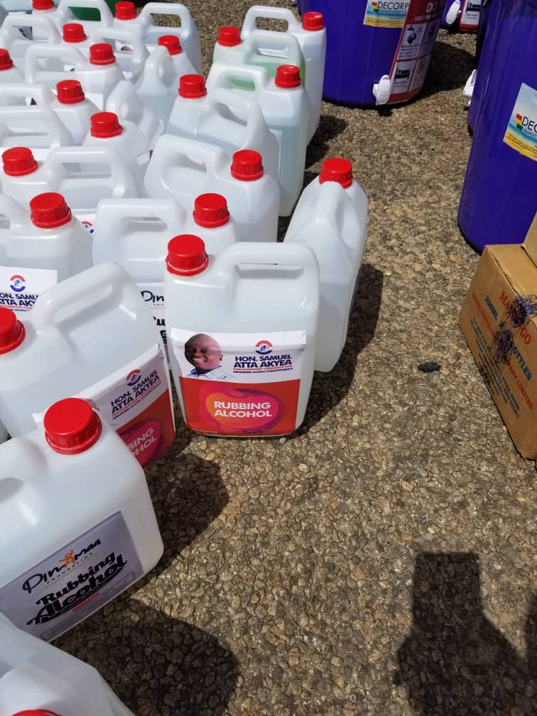 Abuakwa South MP, Assembly donate to Covid-19 frontline institutions