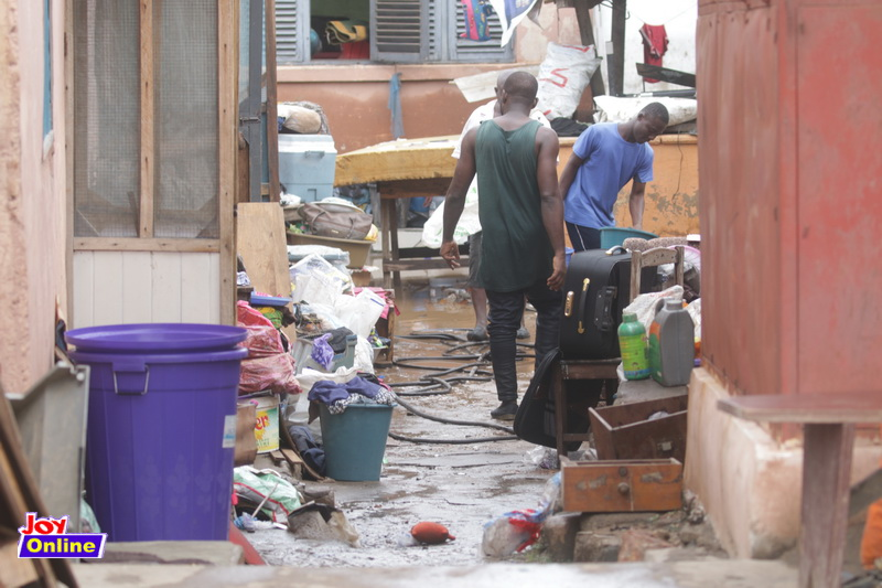 Aftermath of torrential rain at Adabraka in pictures